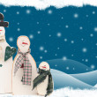 Snowman family - Stock Photo