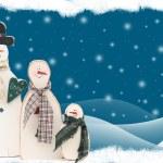 Snowman family — Stock Photo #11287693