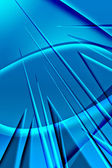 Abstract blue spikes — Stock Photo