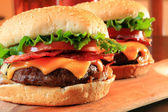 Bacon cheeseburgers — Stock Photo