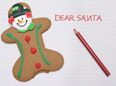 Dear Santa letter — Stock Photo
