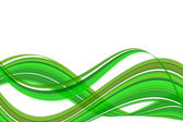 Green wave abstract — Stock Photo