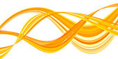 Translucent floating ribbons of orange. — Stock Photo