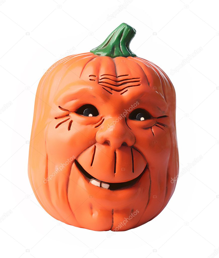 Happy smiling friendly pumpkin  Stock Photo #11285168