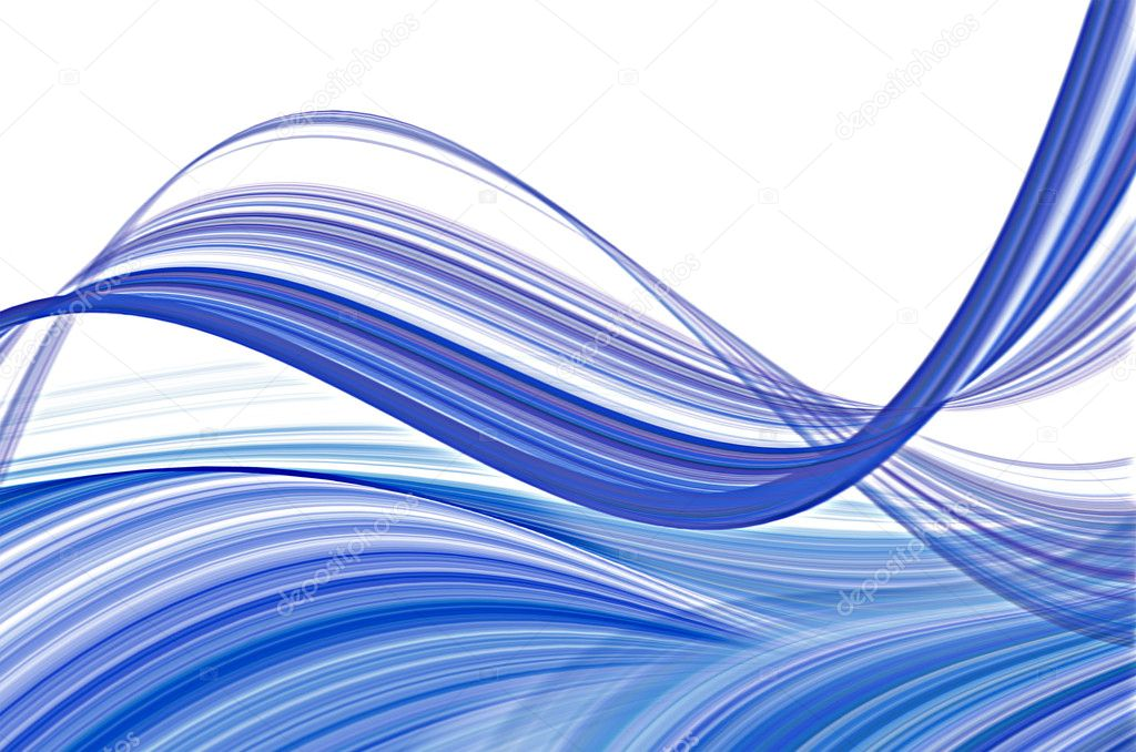 Transparent blue waves  Stock Photo #11287705