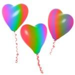 Rainbow love balloons — Stock Photo