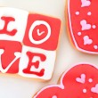 Valentin cookie — Stockfoto