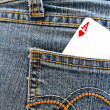 Ace of heart in the back pocket. — Stock Photo #11340678