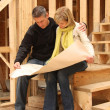 Stock Photo: Building a new house