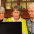 Senior citizens and the internet — Stock Photo