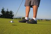 Golfista colocando — Foto Stock