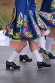 Irish dancing legs — Stock Photo