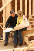 Building a new house — Stock Photo