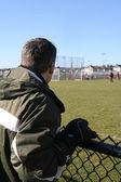 Futbol maçı izleyen seyirci — Stok fotoğraf