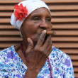 Stock Photo: Cigar lady