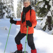Stock Photo: Snowshoeing retirement