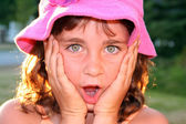 Beautiful girl, surprised — Stock Photo