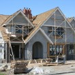 Foto Stock: New house construction