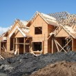 New house construction - Stock Photo