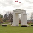 Peace arch monument on the border between Washington and British Columbia — Stock Photo #11458465