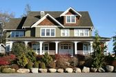 Beautiful large new upscale house — Stock Photo