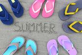 Summer flip flops — Стоковое фото