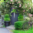 Small charming garden gate. — Stock fotografie