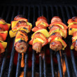 Barbecue shishkabobs - Stock Photo