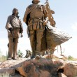 Sculpture garden at Albuquerque Museum of Art & History, New Mexico shows Coronado — Stock Photo