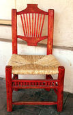 Red traditional chair — Stock Photo