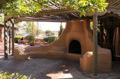 Traditional Outdoor Mexican Adobe oven — Stock Photo
