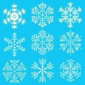Uzornye snowflakes — Stock Vector