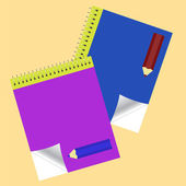 Note pads — Stock Vector
