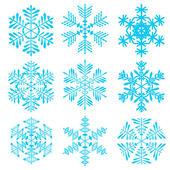 Raznovidnye snowflakes — Stock Vector