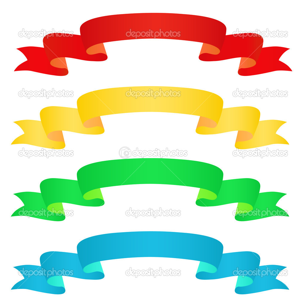 Captivating vector ribbons pics