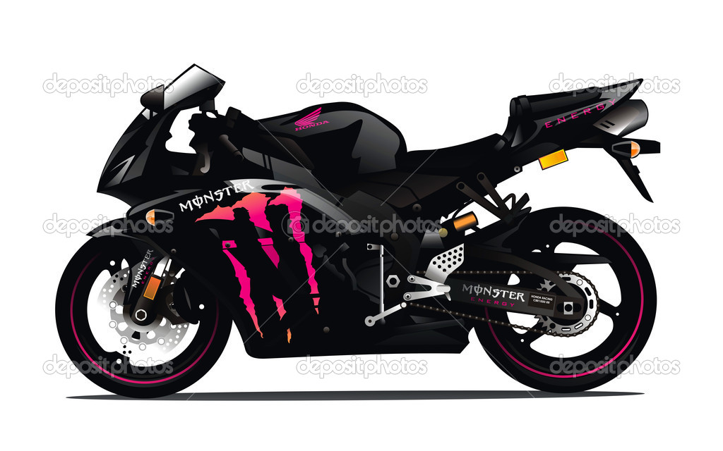 HONDA CBR1000RR - MONSTER ENERGY — Stock Photo #11956390