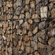 Gabion wall - Stock Photo