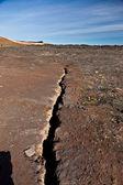 Earthquake fissure line — Stock Photo