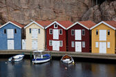 Scandinavian Huts — Stock Photo
