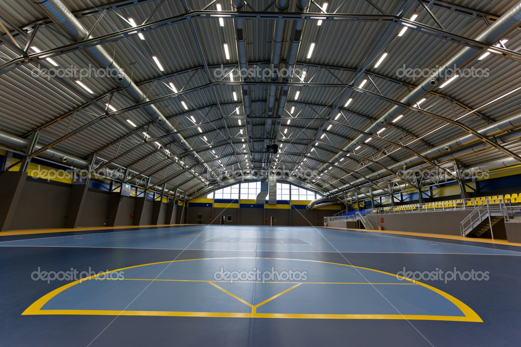 Empty multi sport arch hall — Stock Photo #11431625