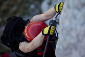Climbing via ferrata — Stock Photo