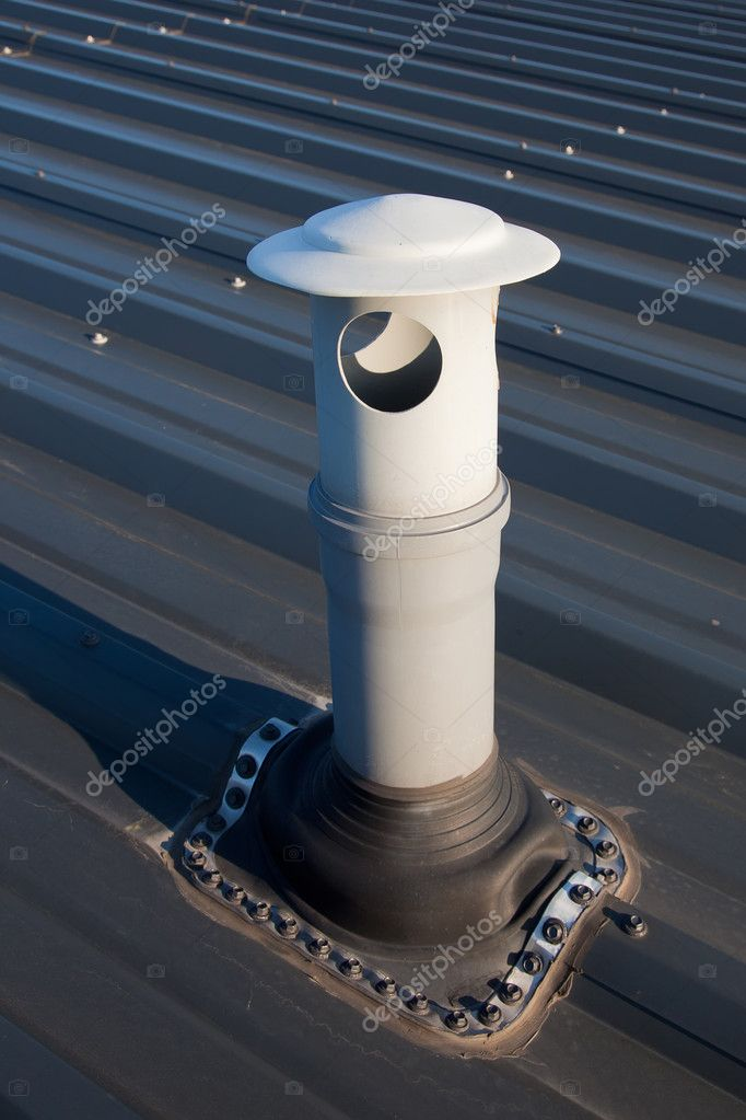 Detail of vent outlet on the roof — Stock Photo #11527995