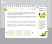 Eco website — Stock Vector