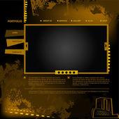 Oro de sitio web — Vector de stock