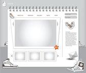 Website shoes — Stock Vector
