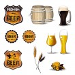 Stock Vector: Beer icons