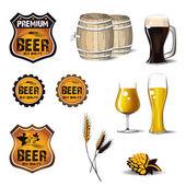 ícones de cerveja — Vetorial Stock
