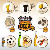Beer icons web — Stock Vector