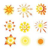 Sign sun — Stock Vector