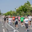 Running at Bucharest International Half Marathon — Stock Photo